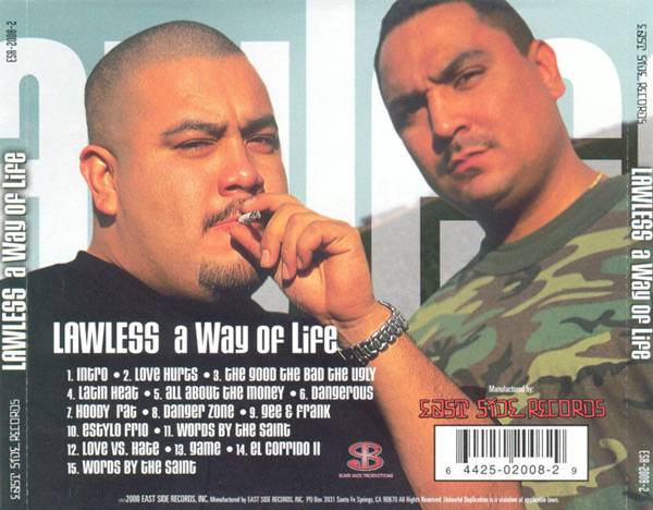 Lawless - A Way Of Life Chicano Rap
